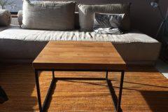 Propozycja aranżacji - stolik kawowy w stylu industrialny,